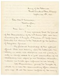 1863-09-08  Brigadier General James Rice recommends Chamberlain for promotion to Brigadier General