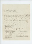Undated - William Emery recommends B.F. Hamilton for appointment as Quartermaster