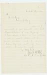 Undated (circa 1864) - Colonel Joseph B  Fitch writes to Governor Cony regarding Morrison C. Sanborn