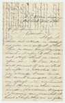 Undated (circa 1861) -  Adelbert Ames writes to Joseph Fitch requesting a commission