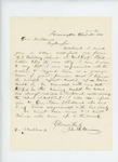 1861-04-22  John B. Morrison recommends Adelbert Ames for a position in the regiment
