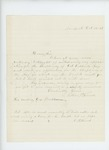 1861-10-18  Luther French solicits a position as chaplain in the regiment