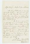 1862-01-06  Professor B.F. Tweed recommends Benjamin F. Heald for commission