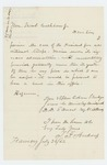 1862-07-03  T.F. Andrews requests a position in the regiment