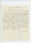 1862-07-07 James N. Merrill recommends Timothy F. Andrews for appointment as Captain by James N. Merrill