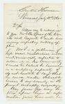 1862-07-10  Erastus Foote recommends Ellis Spear for position