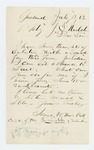1862-07-12  Isaac W. Haskell of Garland requests a commission in exchange for providing recruits