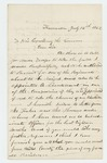 1862-07-14  H. Long requests recruiting papers and a commission