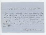 1862-07-18  Joseph Dennis recommends S.A. Bennett for a position