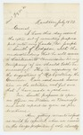 1862-07-19  Henry C. Merriam writes regarding a commission for Joseph O. Smith