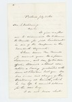 1862-07-23  Woodbury Davis recommends William Morrell for lieutenant