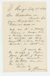 1862-07-25  Mr. Brown sends information about Mr. Gilmore and death of Cyrus T. Jones