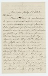 1862-07-31  John H. Rice recommends P.M. Jeffords for appointment as Captain in the 18th Maine Regiment