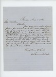 1862-08-08  Samuel H. Dale recommends John McNamara for appointment in the regiment