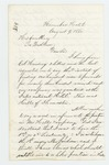 1862-08-09  P.M. Fogler inquires about a lieutenancy in Hill's company