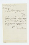 1862-08-11 Henry C. Merriam reports that he has enlisted eight men from Houlton