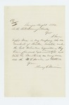 1862-08-11  Henry C. Merriam sends copy of letter reporting recruitment of 8 men from Houlton