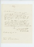 1860-08-11  Mr. Butler recommends Henry Noyes for appointment as quartermaster