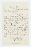 1862-08-12  Samuel Keene requests appointment in Captain Hill's company