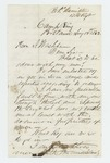 1862-08-12  B.F. Hamilton asks what to do with the 119 men he enlisted