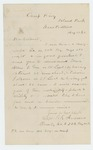 1862-08-12  Captain T.F. Andrews recommends Hosea Allen for appointment as 1st Lieutenant in Company F