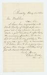 1862-08-13  Edwin Eddy recommends William C. Bailey for lieutenant