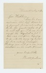 1862-08-13  Bartlett Jackson requests position as Quartermaster or Adjutant
