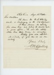 1862-08-13  N.M. Hartwell recommends W. C. Bailey for lieutenant