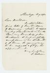 1862-08-14  Letter recommending Mr. Andrews as lieutenant