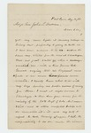1862-08-14  T.F. Andrews updates Adjutant General Hodsdon on status of recruits