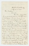 1862-08-16  Henry C. Merriam recommends Besse for appointment as lieutenant instead of B.F. Hamilton