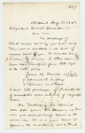 1862-08-19  Lieutenant William W. Morrell corrects list of enlistments