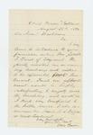 1862-08-22  Ellis Spear recommends Joseph F. Land for 1st Lieutenant and Joseph Hofses for 2nd Lieutenant