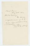 1862-08-21  Captain Ellis Spear requests transportation home for a rejected soldier