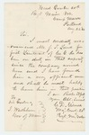 1862-08-23  Major Charles Gilmore recommends Joseph F. Land for 1st Lieutenant, Company G
