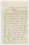 1862-08-23  Lysander Hill reports fraudulent recruitment practices by Hiram Bliss
