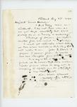 1862-08-25  Lieutenant William W. Morrell writes Adjutant General Hodsdon regarding new enlistments