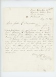 1862-08-28  Charles D. Gilmore requests funds to transport his horse and servants from Bangor to Portland