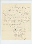 1862-08-28  S.A. Boothby and others recommend Daniel Stinson for appointment in the regiment