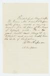1862-08-28  R.M. Chapman recommends Daniel Stimpson [Stinson?] for lieutenant