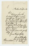 1862-09-14  Frank H. Houghton inquires about recruitment and bounty payments