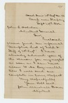 1862-09-24  John Marshall Brown sends the descriptive list of field and staff officers