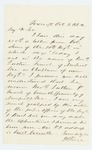 1862-10-03  J.H. Rice writes to Governor Washburn regarding appointment of Reverend Luther P. French