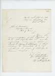 1862-10-04  Colonel Adelbert Ames recommends Sergeant Henry F. Sidlinger for 2nd Lieutenant