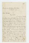 1862-10-15  Charles Strickland writes to General Hodsdon