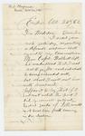 1862-10-24   O.D. Chapman declines a commission as 2nd Lieutenant