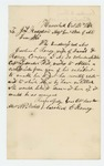 1862-10-24  Caroline E. Roney requests her husband David D. Roney's enlistment certificate to obtain state aid