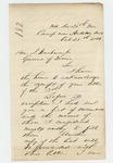 1862-10-28  Colonel Adelbert Ames writes Governor Washburn regarding progress of the regiment