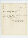 1862-11-14  John M. Brown encloses copy of regimental monthly return for October 1862