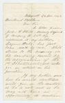 1862-11-24  Frederick Hale requests a commission as 2nd Lieutenant for cousin John White